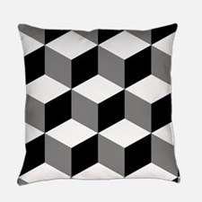 Cube Big Ptn Bwg Everyday Pillow
