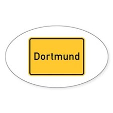 Dortmund Roadmarker, Germany Oval Decal
