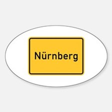 Nuremberg Roadmarker, Germany Oval Decal