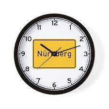Nuremberg Roadmarker, Germany Wall Clock
