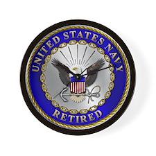 us_navy_r.png Wall Clock
