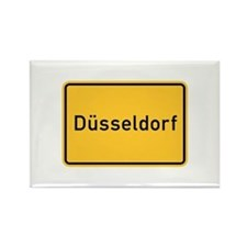 Düsseldorf Roadmarker, Germany Rectangle Magnet