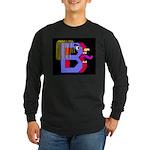 FACE OF THE LETTER B Long Sleeve Dark T-Shirt