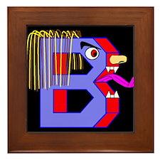 FACE OF THE LETTER B Framed Tile