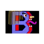 FACE OF THE LETTER B Rectangle Magnet