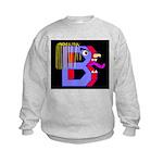 FACE OF THE LETTER B Kids Sweatshirt