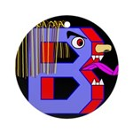 FACE OF THE LETTER B Ornament (Round)