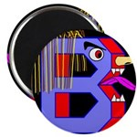 FACE OF THE LETTER B Magnet