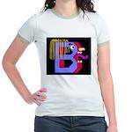 FACE OF THE LETTER B Jr. Ringer T-Shirt