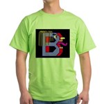 FACE OF THE LETTER B Green T-Shirt
