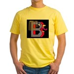 FACE OF THE LETTER B Yellow T-Shirt