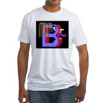 FACE OF THE LETTER B Fitted T-Shirt