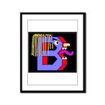 FACE OF THE LETTER B Framed Panel Print