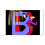 FACE OF THE LETTER B Rectangle Sticker