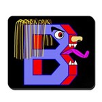FACE OF THE LETTER B Mousepad