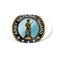 army_guard.png Oval Car Magnet