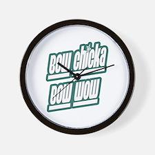 Bow Chicka bow wow Wall Clock