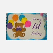 Boy 1st birthday Rectangle Magnet