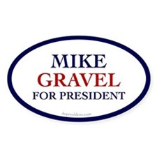 Mike Gravel for President Oval Decal