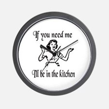 I'll be in the kitchen Wall Clock