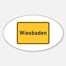 Wiesbaden Roadmarker, Germany Oval Decal