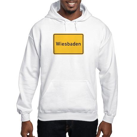 Wiesbaden Roadmarker, Germany Hooded Sweatshirt