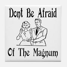 Magnum condom Tile Coaster