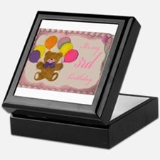 Girl 3rd Birthday Keepsake Box