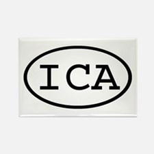 ICA Oval Rectangle Magnet
