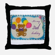 Boy 3rd Birthday Throw Pillow