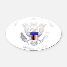uscg_flg_d5.png Oval Car Magnet
