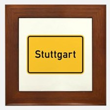 Stuttgart Roadmarker, Germany Framed Tile