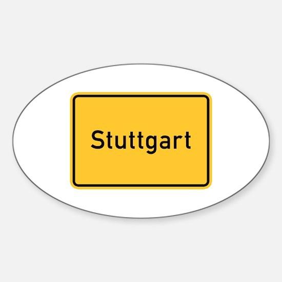 Stuttgart Roadmarker, Germany Oval Decal