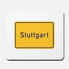 Stuttgart Roadmarker, Germany Mousepad