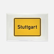 Stuttgart Roadmarker, Germany Rectangle Magnet