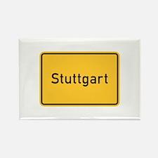 Stuttgart Roadmarker, Germany Rectangle Magnet (1
