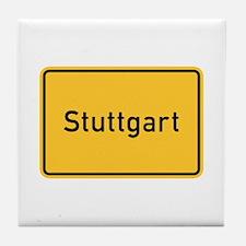 Stuttgart Roadmarker, Germany Tile Coaster