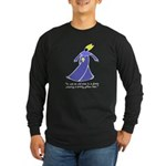 Old Man in a Dress Long Sleeve Dark T-Shirt