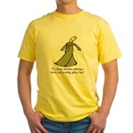 Old Man in a Dress Yellow T-Shirt