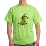 Old Man in a Dress Green T-Shirt