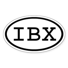 IBX Oval Oval Decal