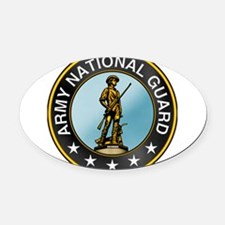 barmy_guard.png Oval Car Magnet