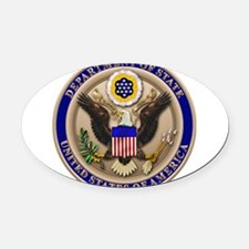 STATE_DEPT_2x.png Oval Car Magnet