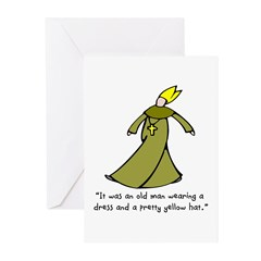 Old Man in a Dress Greeting Cards (Pk of 10)
