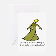 Old Man in a Dress Greeting Card