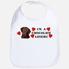 chocolate lab lover Bib