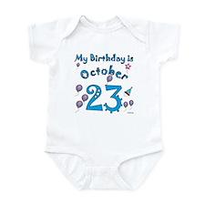 October 23rd Birthday Infant Bodysuit