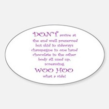Funny aging poem Oval Decal