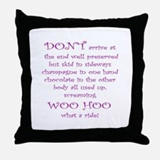 Funny aging poem Throw Pillow