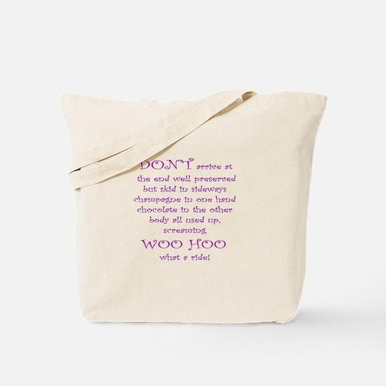 Funny aging poem Tote Bag